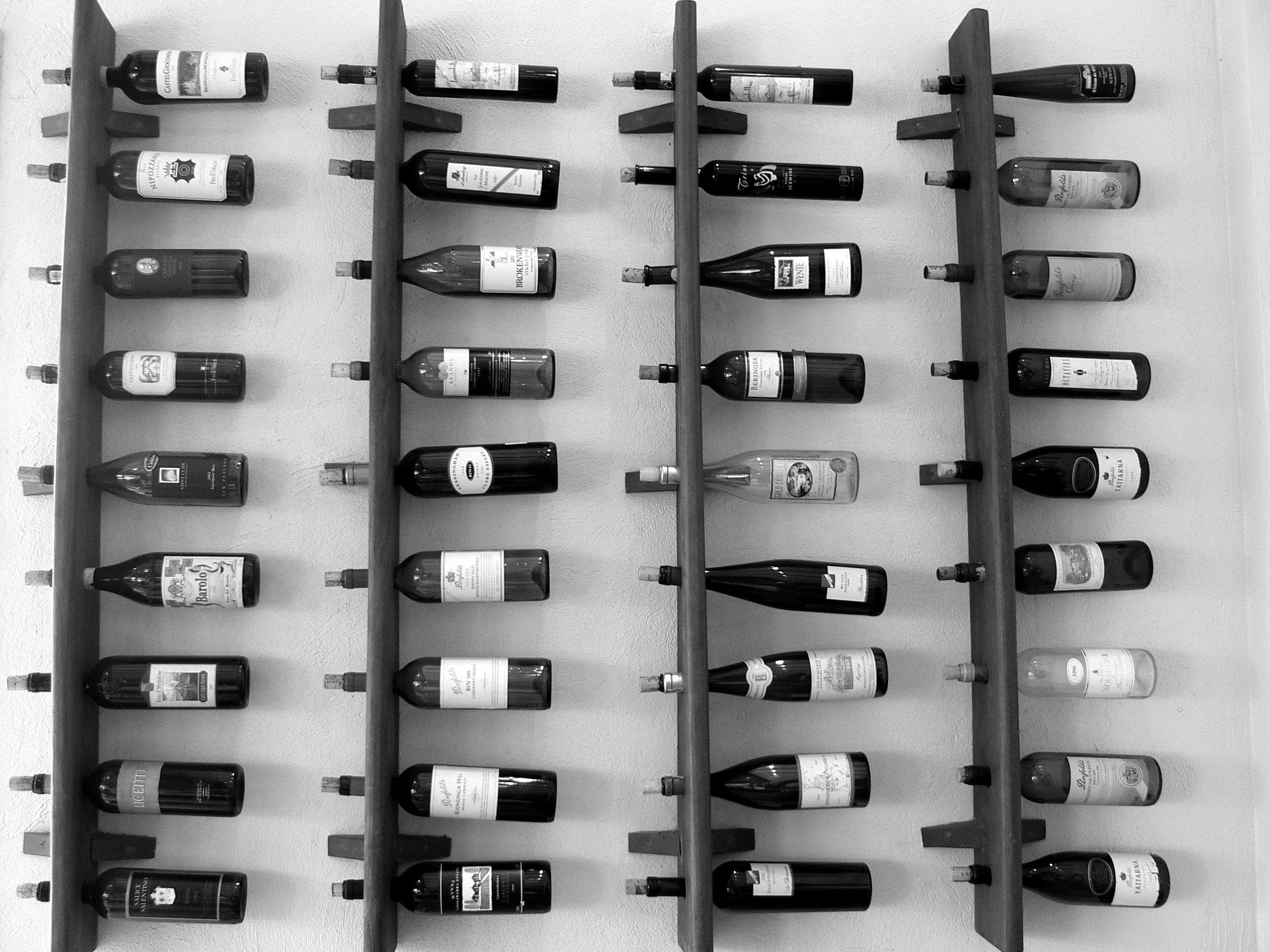 een leuke wijnpaal